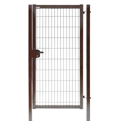 Калитка Medium 2.03x1.0 м коричневая RAL 8017 цена