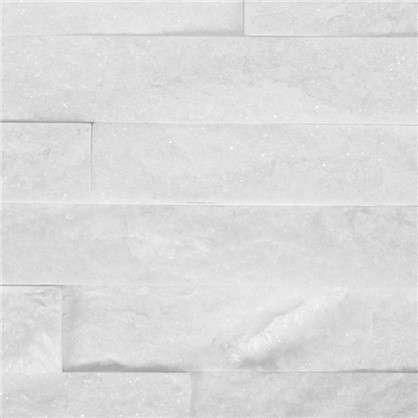 Камень натуральный Кварцит цвет белый 0.63 м2 цена