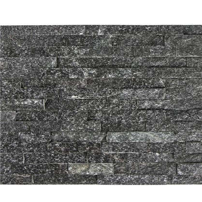 Камень натуральный Кварцит цвет чёрный 0.63 м2