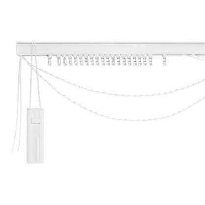 Карниз для вертикальных жалюзи к механизму 160х180 см металл цвет черно-белый цена
