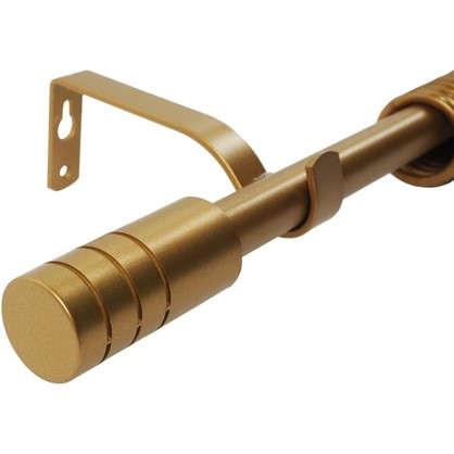 Карниз однорядный Цилиндр раздвижной 160-300 см цвет матовое золото цена