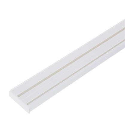 Карниз шинный двухрядный Эконом в наборе 240 см пластик цвет белый цена
