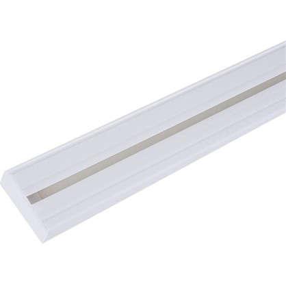 Карниз шинный однорядный Эконом в наборе 240 см пластик цвет белый цена