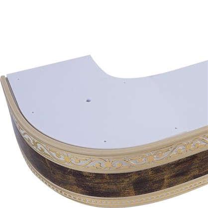 Карниз шинный трехрядный Монарх в наборе 200 см пластик цвет золото