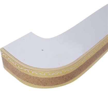 Карниз шинный трехрядный Монарх в наборе 240 см пластик цвет песок