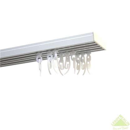 Карниз шинный трехрядный с потолочным держателем 160 см алюминий цвет белый цена