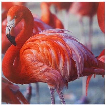 Картина без рамы 30х30 см Фламинго цена