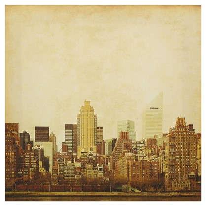 Картина на холсте 30х30 см Городской пейзаж
