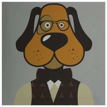 Картина на холсте 30х30 см Hipster dog