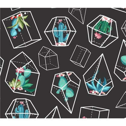 Картина на холсте 30х30 см Кактусы геометрия
