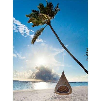 Картина на холсте 40х50 см Качели на пляже цена
