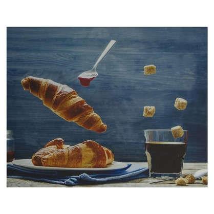 Картина на холсте 40х50 см Кофе круассан цена