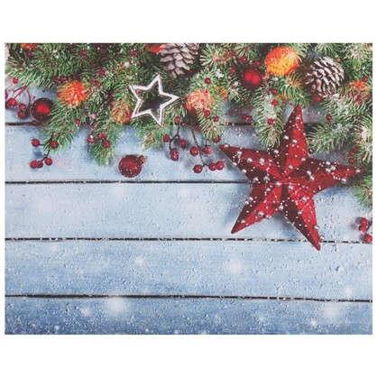 Картина на холсте 40x50 см Рождественский венок цена