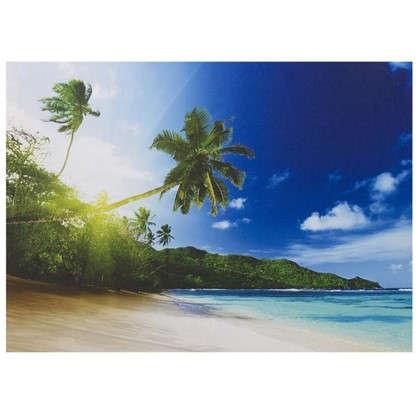 Картина на холсте 50х70 см Пальмы на пляже цена