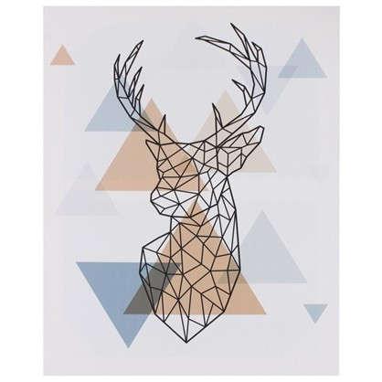 Картина на холсте Арт Голова оленя 40х50 см цена