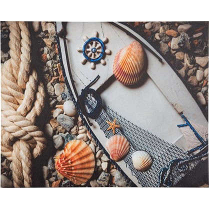 Картина на холсте Лодка ракушки 40х50 см цена