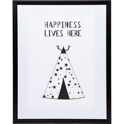 Картина на холсте в раме Happiness 40х50 см цена