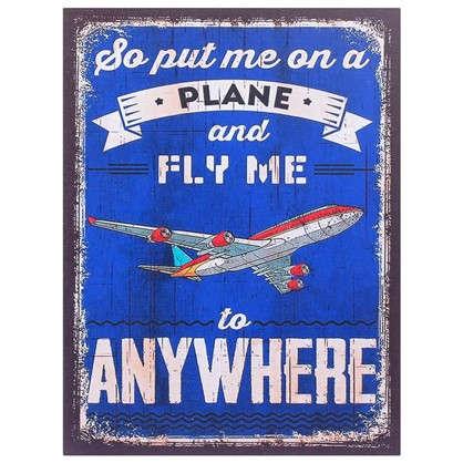 Картина на МДФ Самолет 30х40 см цена