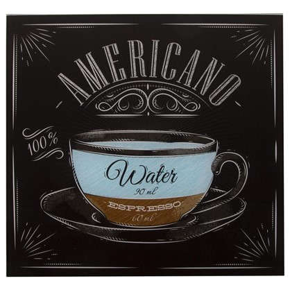 Картина на стекле 30х30 см Американо цена