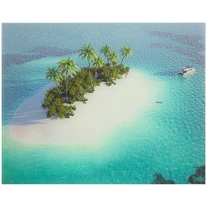 Картина на стекле 40х50 см Остров в океане цена