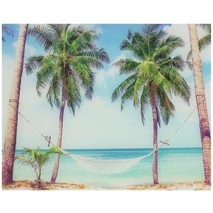 Картина на стекле 40х50 см Тропический рай цена
