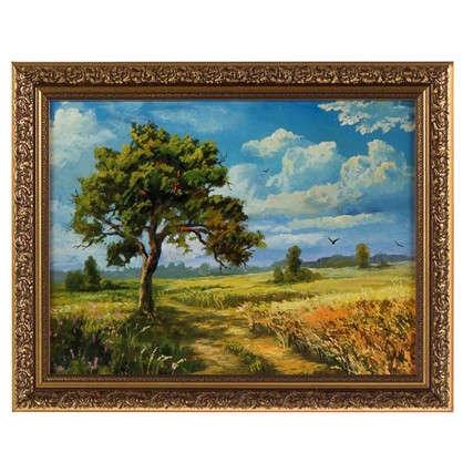 Картина в раме 30x40 см Дерево в поле цена