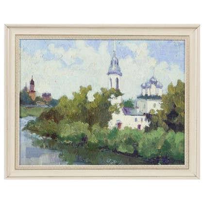 Картина в раме 40x50 см Церковь на берегу цена