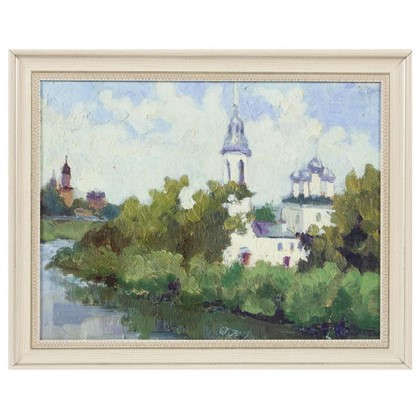 Картина в раме 40x50 см Церковь на берегу