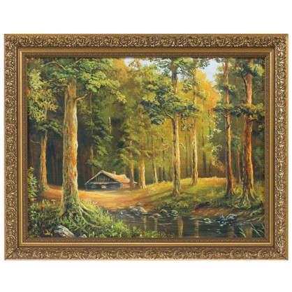 Картина в раме 40x50 см Домик в лесу цена