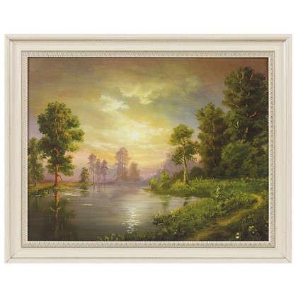 Картина в раме 40x50 см Пейзаж озеро цена