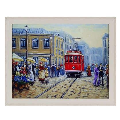 Картина в раме 40x50 см Трамвай цена