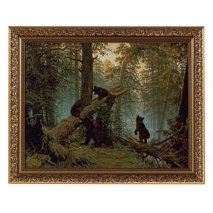 Картина в раме 40x50 см Утро в сосновом бору