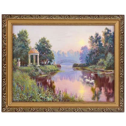 Картина в раме Утренний парк 30х40 см цена