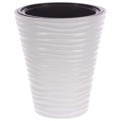 Кашпо Дюна 19.5 л 385 см цвет белый