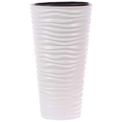 Кашпо Дюна 42 л 63 см цвет белый