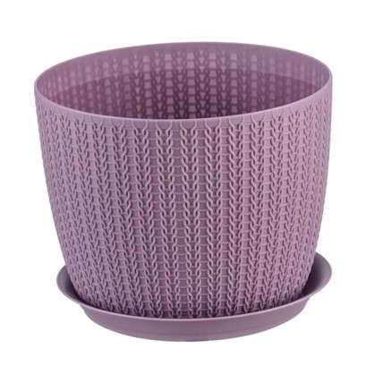 Кашпо с поддоном Вязание 1.1 л 135 мм цвет пурпурный цена