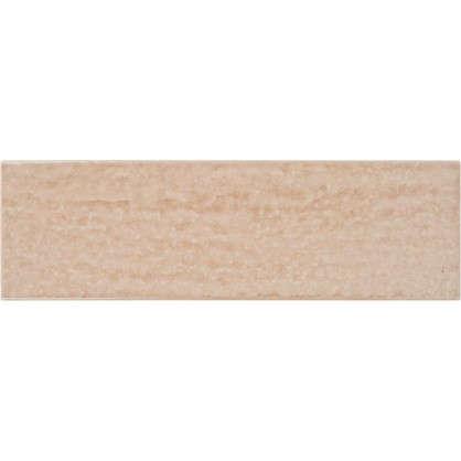 Керамогранит Teo 25х7.5 см 0.79 м² цвет какао глянцевый цена
