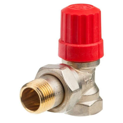 Клапан для радиатора запорный с выносным датчиком угловой для двухтрубной системы отопления 1/2 дюйма цена
