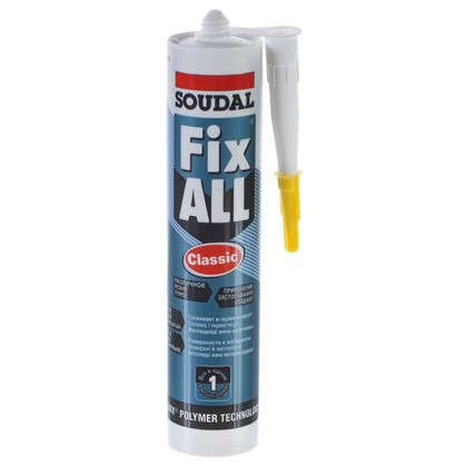 Клей-герметик Soudal Fix All 290 мл цена