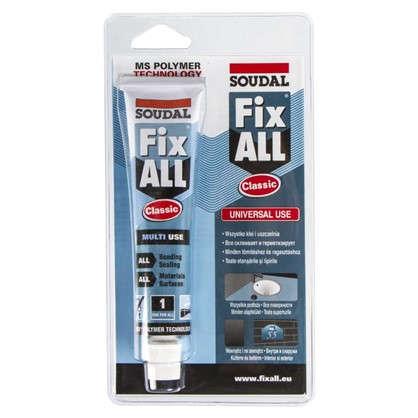 Клей-герметик специальный Soudal Fix All в блистере 80 мл цена