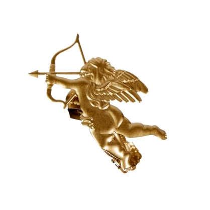 Клипса Амур цвет матовое золото цена