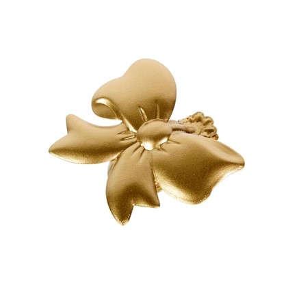 Клипса Бант цвет матовое золото