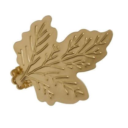 Клипса Лист металл цвет матовое золото цена