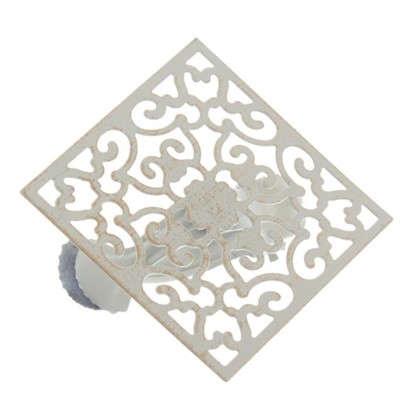 Клипса Орнамент металл цвет белый цена