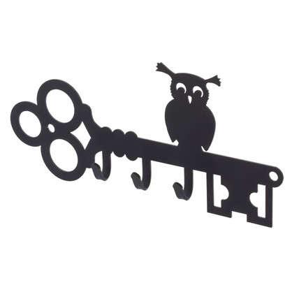 Ключница DuckandDog Сова 190х99х19 мм сталь цвет чёрный матовый цена