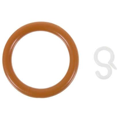 Кольцо пластик цвет черешня с крючоком 4 шт. цена