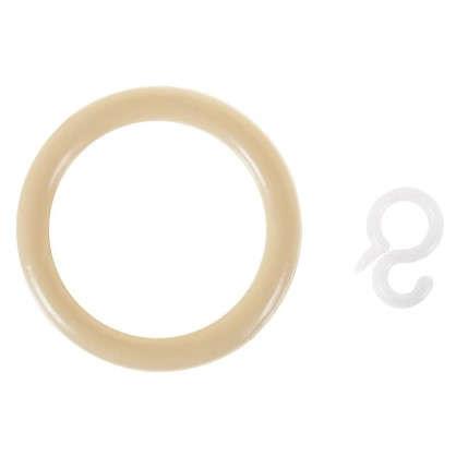 Кольцо пластик цвет натуральный с крючоком 4 шт. цена