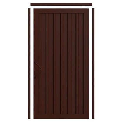 Комплект для калитки Doorhan Revolution 1.36х2.2 м цвет шоколадно-коричневый цена