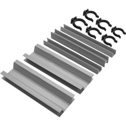 Комплект для установки кухонного цоколя 190 мм ПВХ цвет серебро