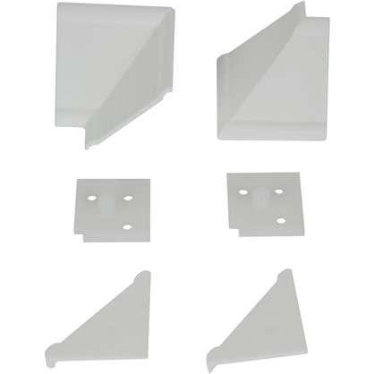 Комплект для установки плинтуса цвет белый цена